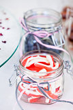 Soft candies in jar