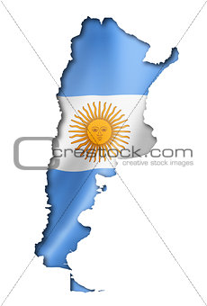 Argentinian flag map