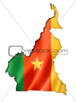 Cameroon flag map