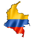 Colombian flag map