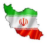 Iranian flag map