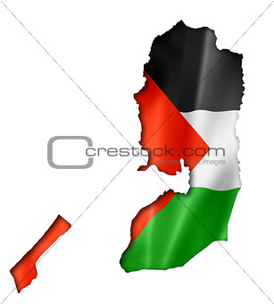 Palestinian flag map
