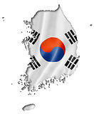South Korean flag map