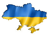 Ukrainian flag map