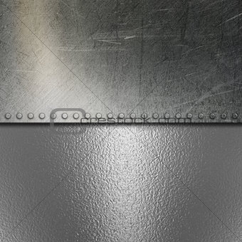 Grunge brushed metal and chrome background