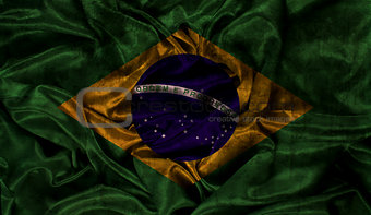 Grunge Brazil flag background