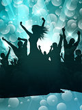 Grunge party people background