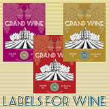 labels for wine with grapes