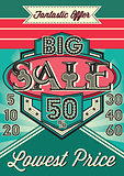 template vintage poster for the big sale