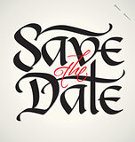 SAVE THE DATE hand lettering (vector)