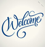 WELCOME hand lettering (vector)