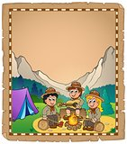 Children scouts theme parchment 2