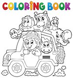Coloring book car traveller theme 2