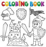Coloring book knight theme 1