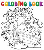 Coloring book Noahs ark theme 1