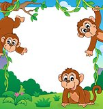 Monkey thematic frame 1