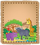 Parchment with African animals 3