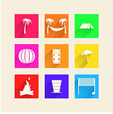 Icons for camping
