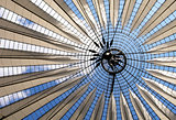 Futuristic roof at Sony Center, Potsdamer Platz