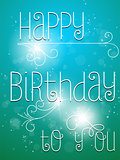 Happy Birthday Colorful Background Card