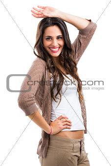 Beautiful woman laughing