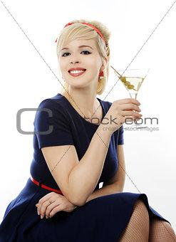 beautiful girl with martini