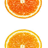 two halves of orange