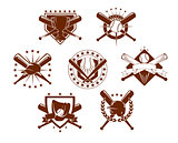 Baseball emblems set