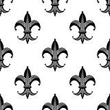 Seamless stylized fleur de lys pattern