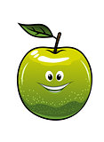 Healthy fresh green cartoon apple