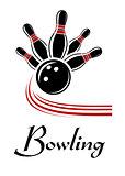 Bowling sports symbol