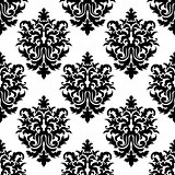 Decorative seamless floral pattern background