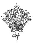 Persian paisley design