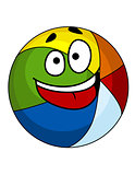 Colorful laughing cartoon beach ball