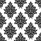 Seamless floral damask pattern