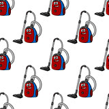 Seamless background pattern of a vacuum cleaner