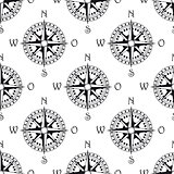 Seamless pattern of a vintage compass