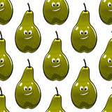 Seamless pattern of healthy fresh green pears