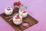 Delicious fresh strawberries and yoghurt breakfast