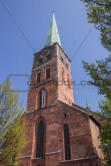 Aegidien church in Lubeck