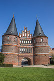 Front of the Holsten gate in Lubeck