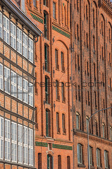 Old storehouses at the quay in Lubeck