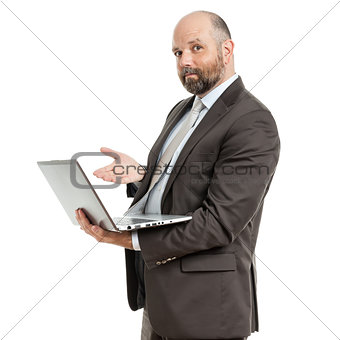 business man notebook