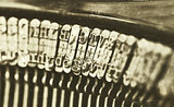 Close-up of an old typewriter