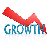 Arrow down growth