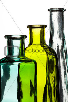 Three Bottle on White