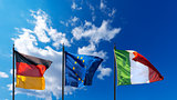 Germany Europe and Italy Flags