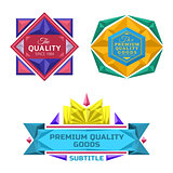 set of retro badge jewel labels and logo