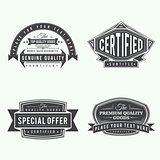 collection of retro monochrome vintage style labels and banners