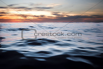 dark ocean sunset